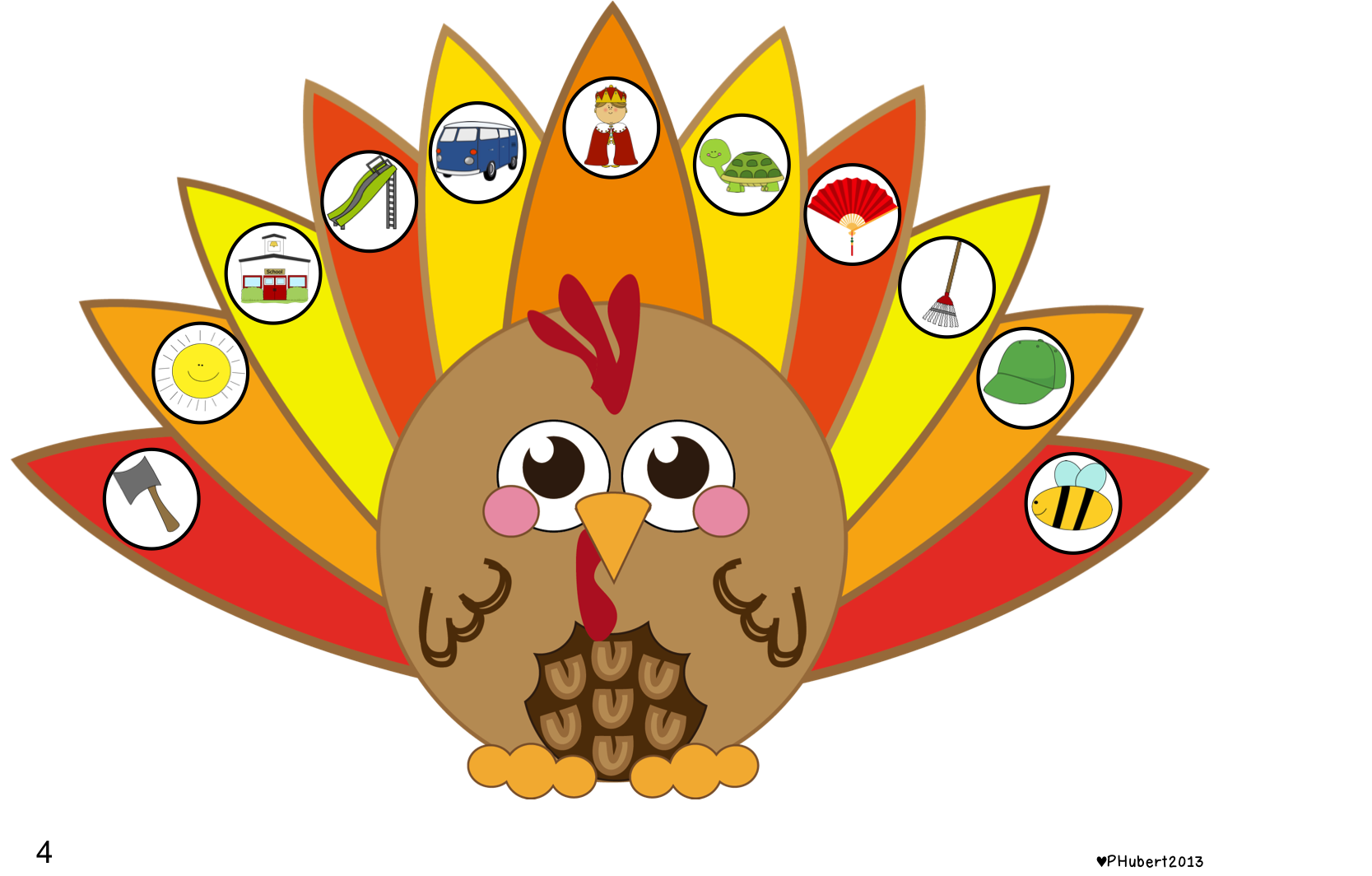 Thanksgiving Themed First Sound Fluency And Phoneme