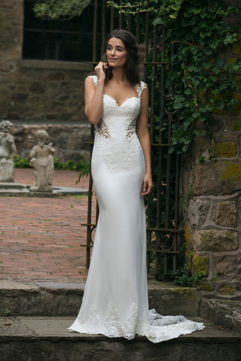 COMING SOON! Sincerity Bridal 44051 Ivory/Nude Size 12: Crepe Gown ...