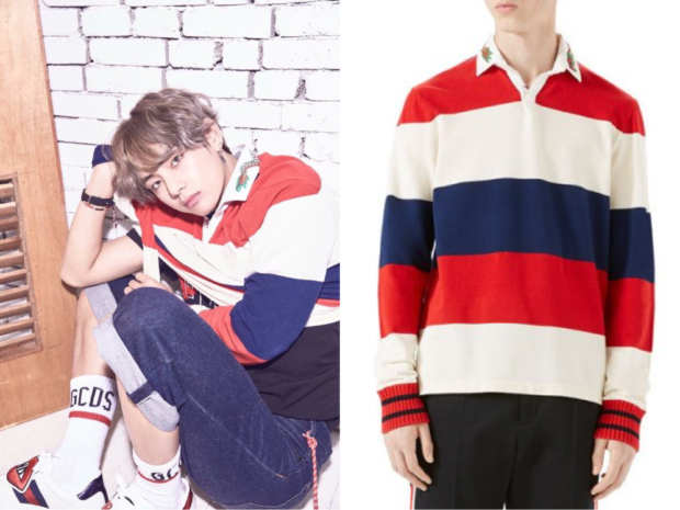 c24e49e86 BTS Love Yourself : Her] V Wears Gucci Long Sleeve Tee | Kpop ...