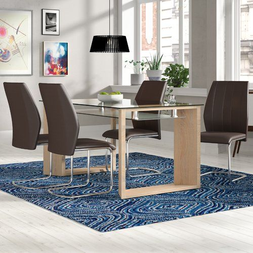 Fey Dining Set With 4 Chairs Home Loft Concept