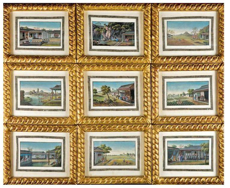 1stdibs.com | Tingqua (guan Lianchang) (1809-1870 ) 10 China trade paintings about Tea.