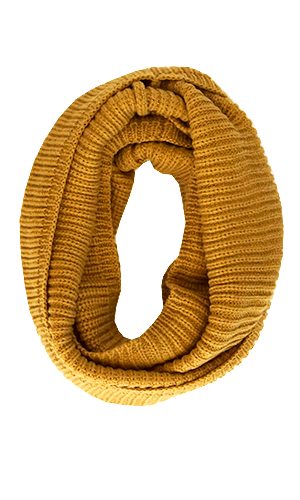 Snuggly Winter Infinity Scarf, Mustard - Conversation Pieces
