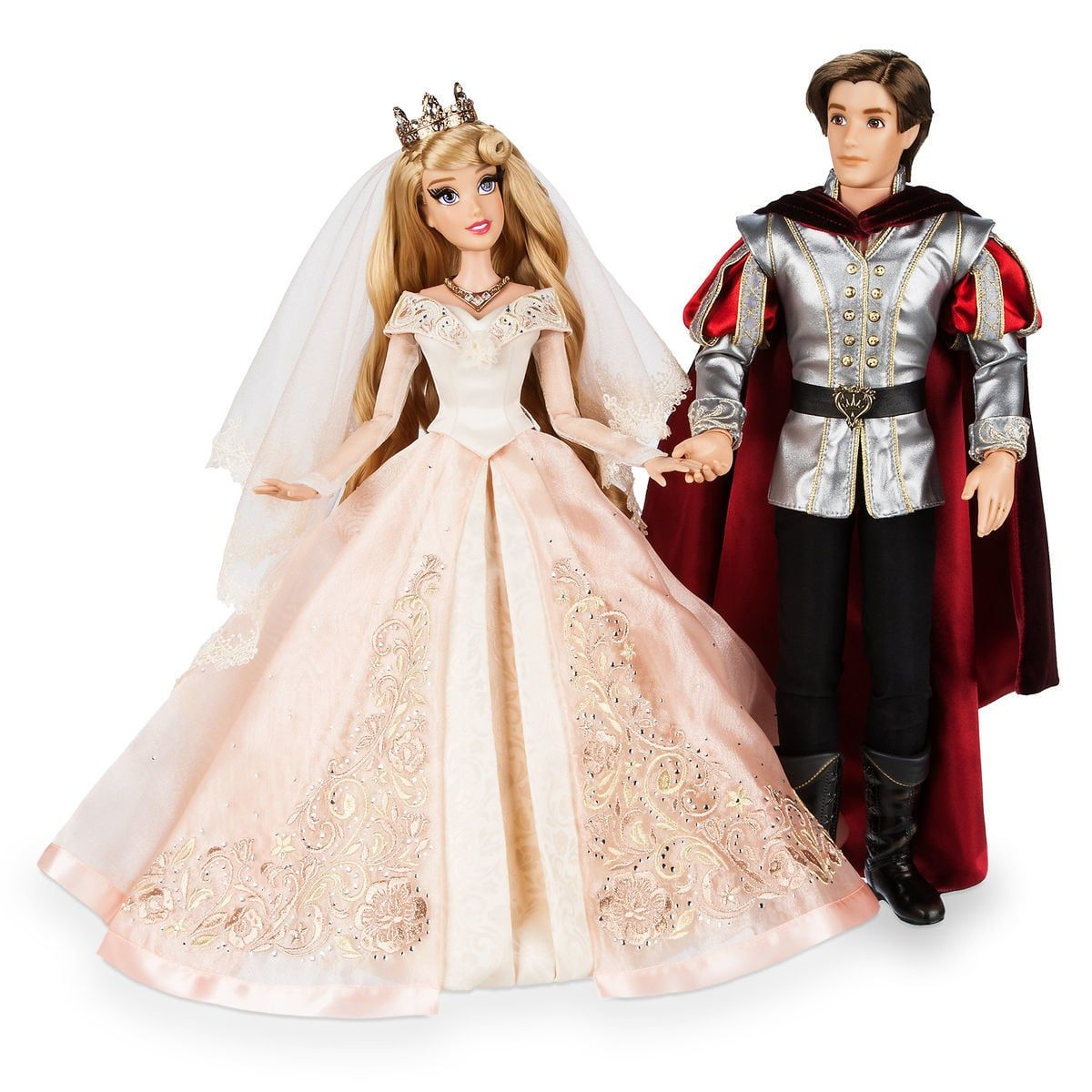 Aurora and prince phillip limited edition wedding doll set