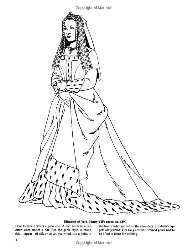 Tudor and Elizabethan Fashions (Dover Fashion Coloring