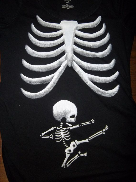 660a56fc27909 NEW Pick your baby Skeleton Maternity Tee by karenskontraptions, $47.50