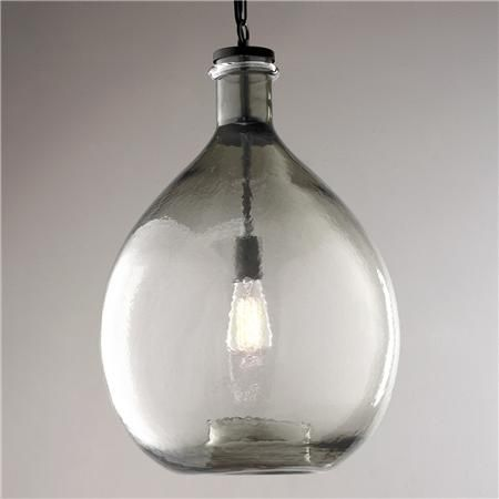 Oversized Glass Jug Pendant