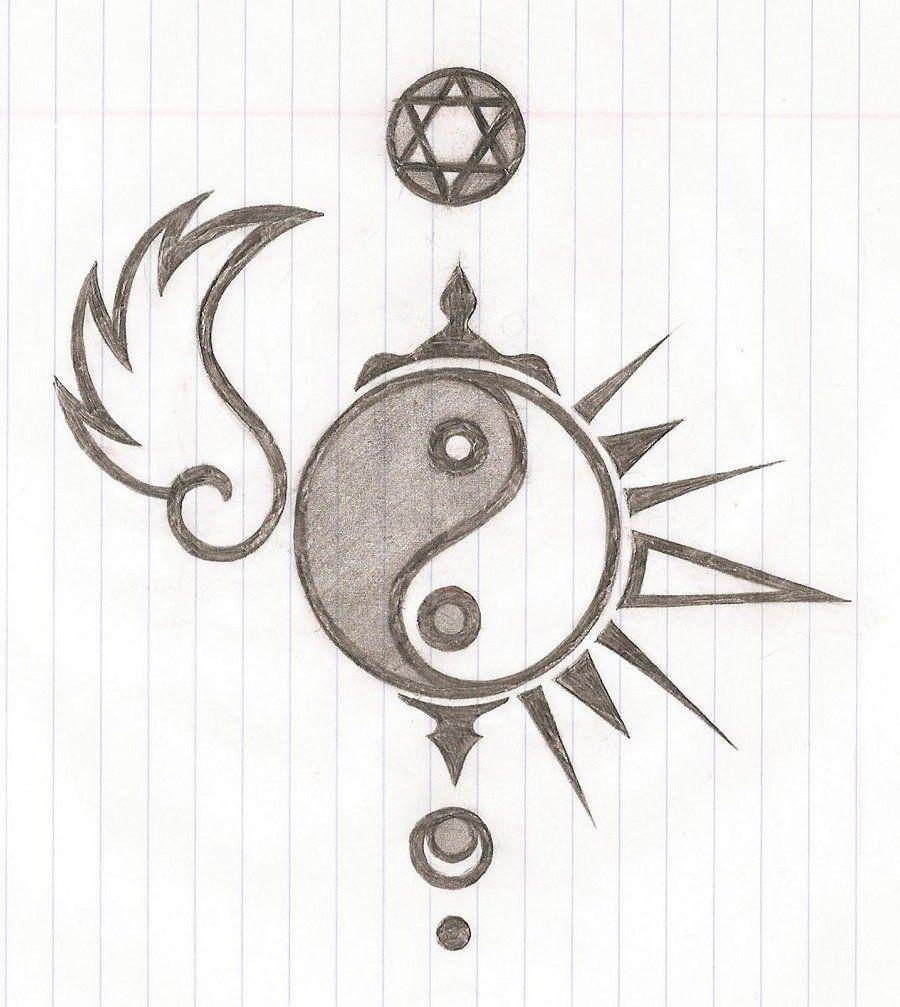 9461539b3 yin yang tattoo by crazyXzombieXgirl.deviantart.com on @DeviantArt ...
