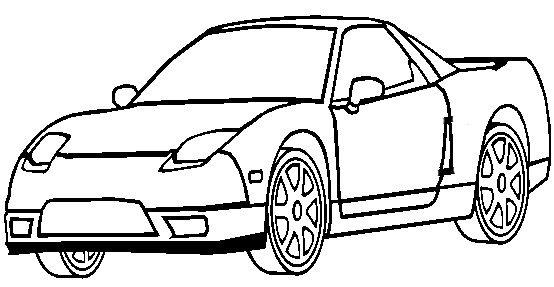 Honda Acura Nsx Coloring Page Honda Car Coloring Pages Acura