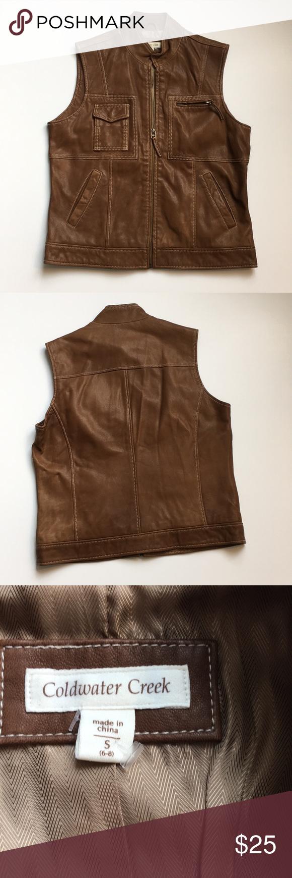 Genuine leather vest pinterest