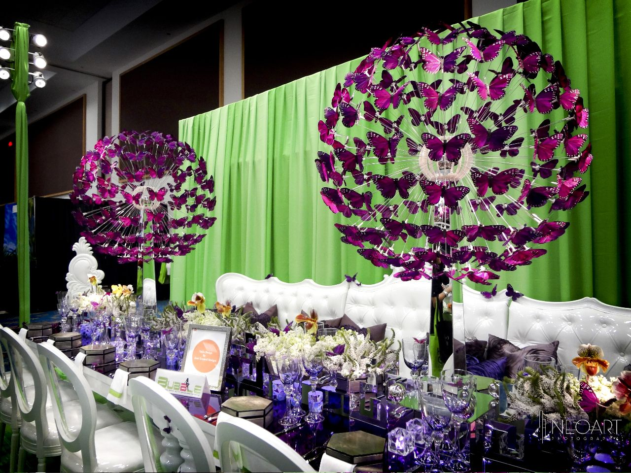 Butterfly centerpieces by bizbash expo for Floral table decorations for weddings