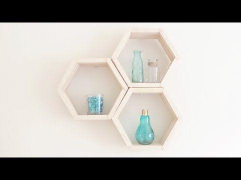 DIY Hexagon Shelves from Cardboard - HGTV Handmade - YouTube   DIY ...