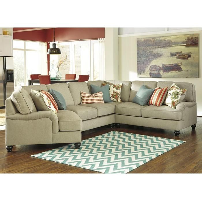 Kerridon 4-Piece Sectional in Putty | Nebraska Furniture Mart  sc 1 st  Pinterest : nebraska furniture mart sectional sofas - Sectionals, Sofas & Couches