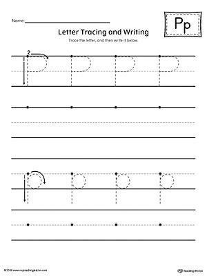 Letter P Tracing and Writing Printable Worksheet | Writing ...