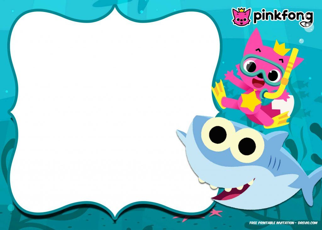 Free Printable Baby Shark Pinkfong Birthday Invitation Template Updated Shark Birthday Invitations Shark Birthday Party Shark Birthday