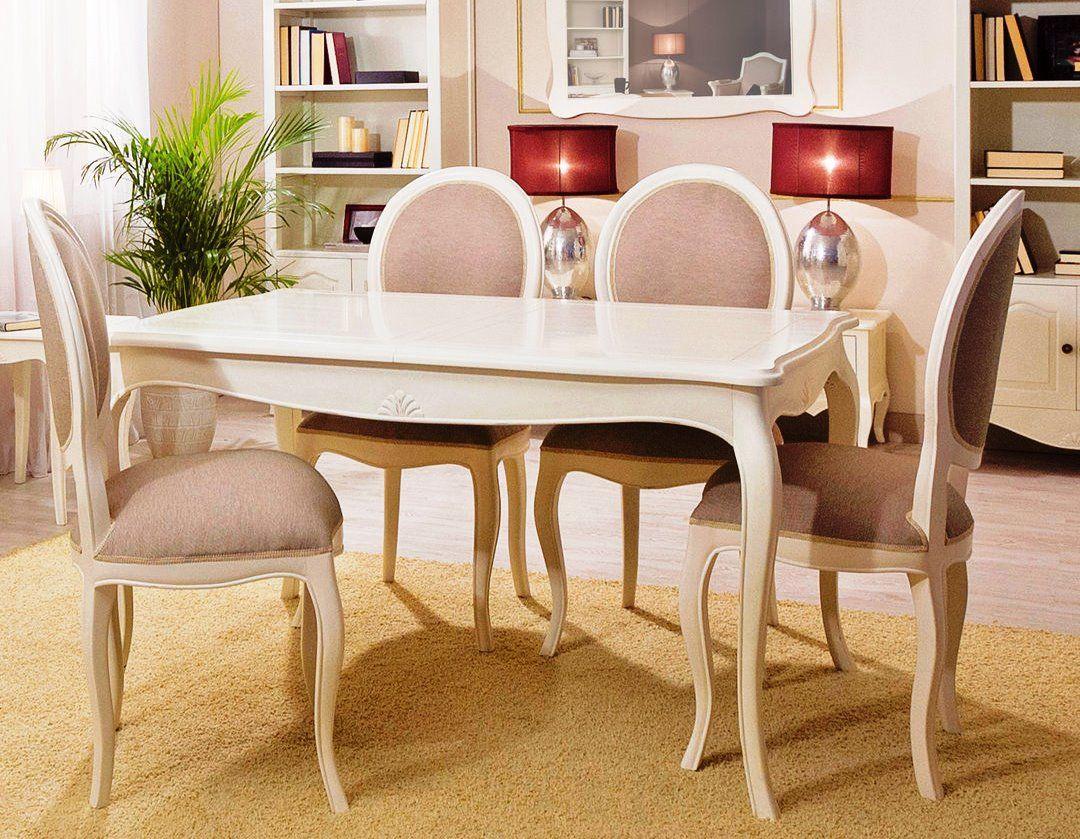 Comedor par s de bamb blau de estilo cl sico franc s for Estilos de sillas para comedor