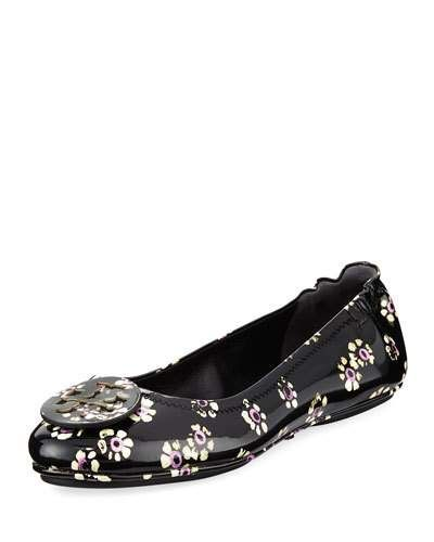9116922e2ab Minnie Stamped Floral Travel Ballerina Flat