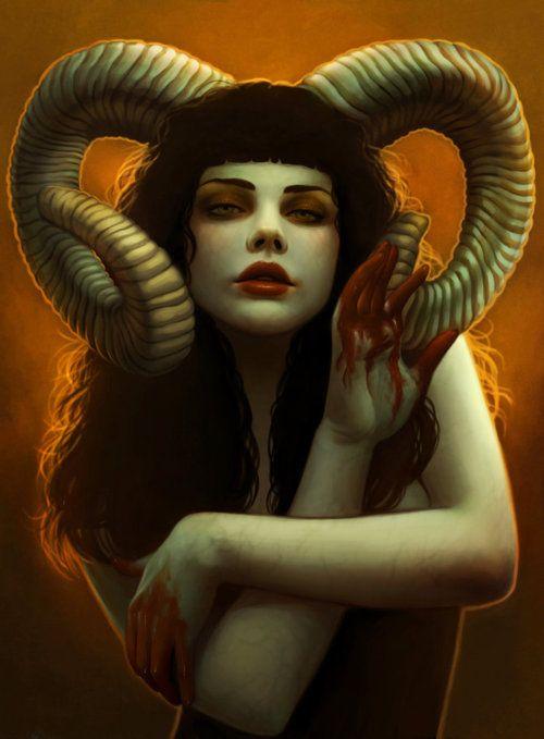 Malachai Satanas | anime Ilustración | Pinterest | Cuerno ...