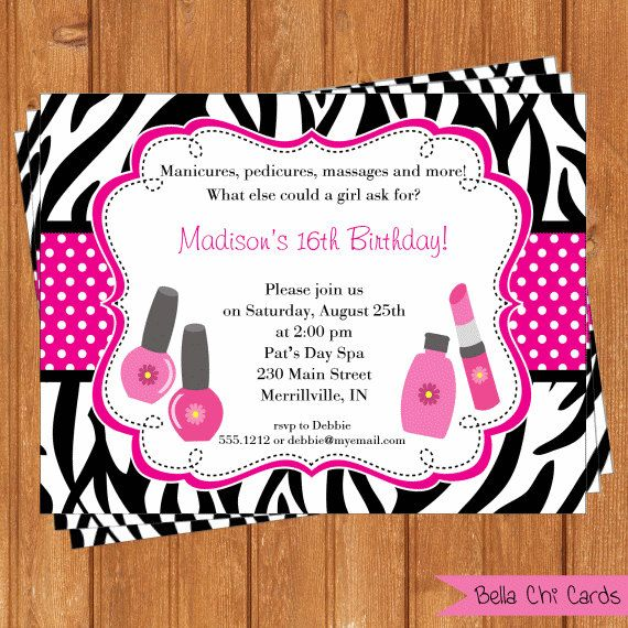Spa party kids birthday invitations kbi296diy printable digital file spa party kids birthday invitations kbi296diy printable digital file filmwisefo Image collections
