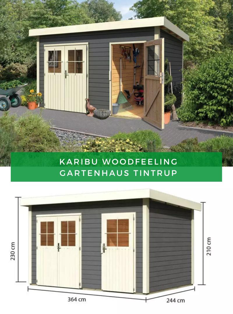 Gartenhaus Karibu Woodfeeling Tintrup In 2021 Gartenhaus Flachdach Gartenhaus Gartenhaus Pultdach