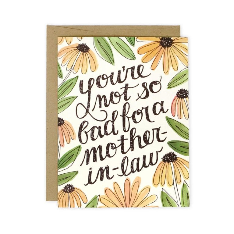 MotherinLaw Card Mothers day cards, Funny mothers day