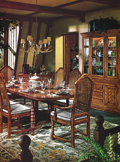1980s Dining Room Decor Modern Style Decor Vintage House Plans