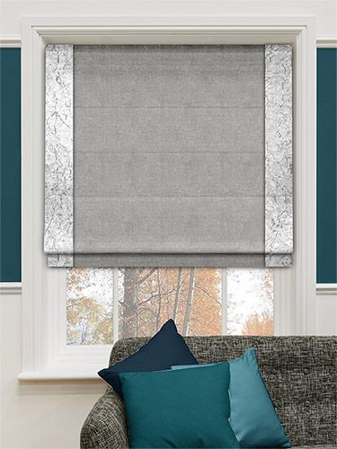 Velvet Crush Storm Roman Blind In 2019 Roman Blinds