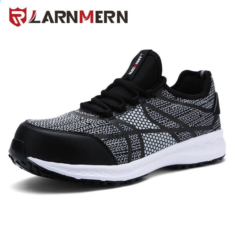 Larnmern Meskie Obuwie Ochronne Ze Stali Toe Obuwie Robocze Ultra Lekkie Oddychajace Tenisowki Odblaskowy Pasek Tk Sneakers Running Shoes For Men Mens Trainers