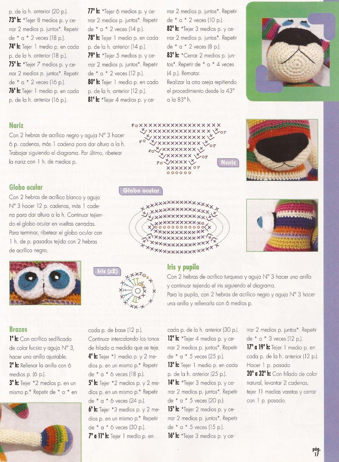Fany Crochet: conejo colorines | perro colores | Pinterest | Dragón ...