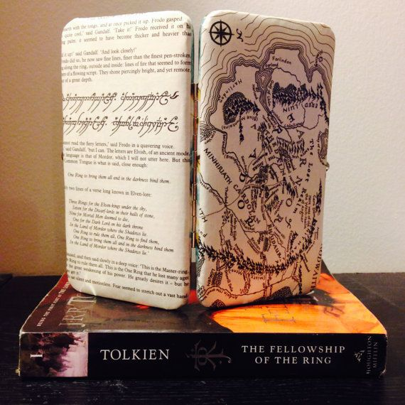Lord of The Rings Book Page Wallet with Map by TheNerdBoutique