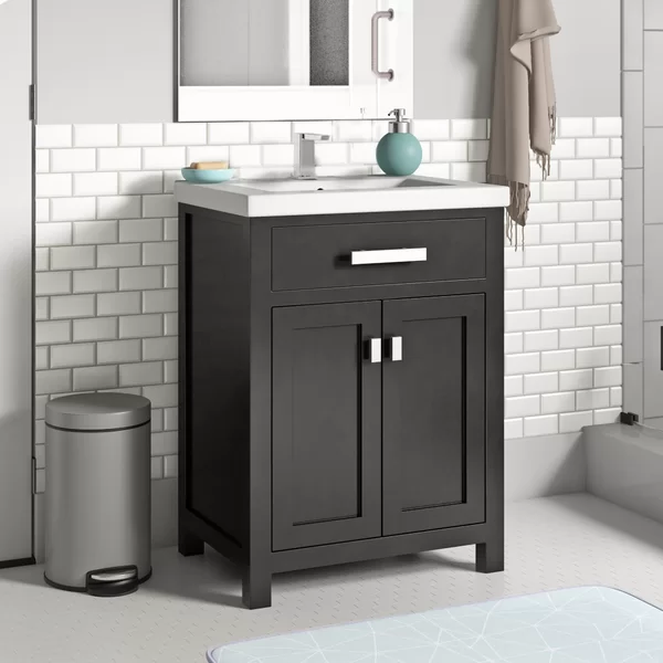 370 Zipcode Design Knighten 24 Single Bathroom Vanity Set Reviews Wayfair Bathroom Vanity Single Bathroom Vanity Vanity