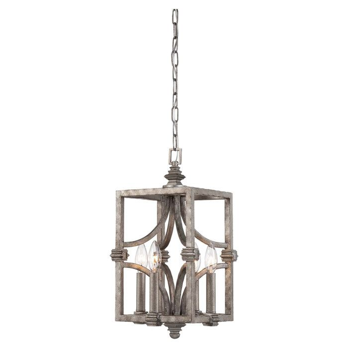 Off structure aged steel four light foyer pendant by savoy house structure is a bold introduction by raymond waites that boasts an aged steel finish and