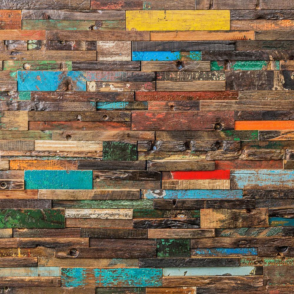 wood mosaic wall tile