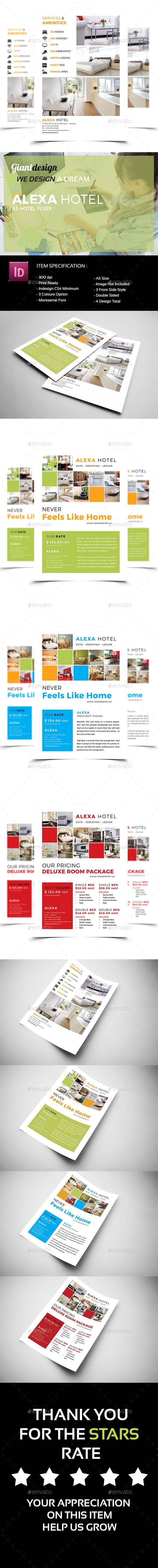 Alexa Hotel Flyer | Flyer template, Template and Indesign templates