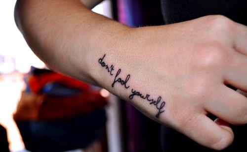 Hand Handwriting Quote Tattoo Favim Com 140347 Jpg 500 309 Hand Tattoos Inspiring Quote Tattoos Tattoo Lettering Design
