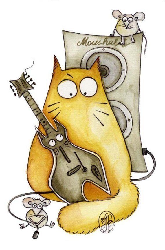Рисунки смешные котов, добрым утром днем