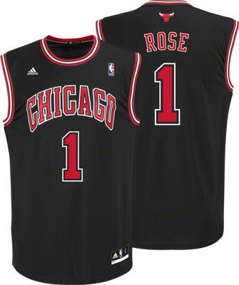 100% authentic 30055 432e1 Derrick Rose Jersey: adidas Revolution 30 Black Chicago ...