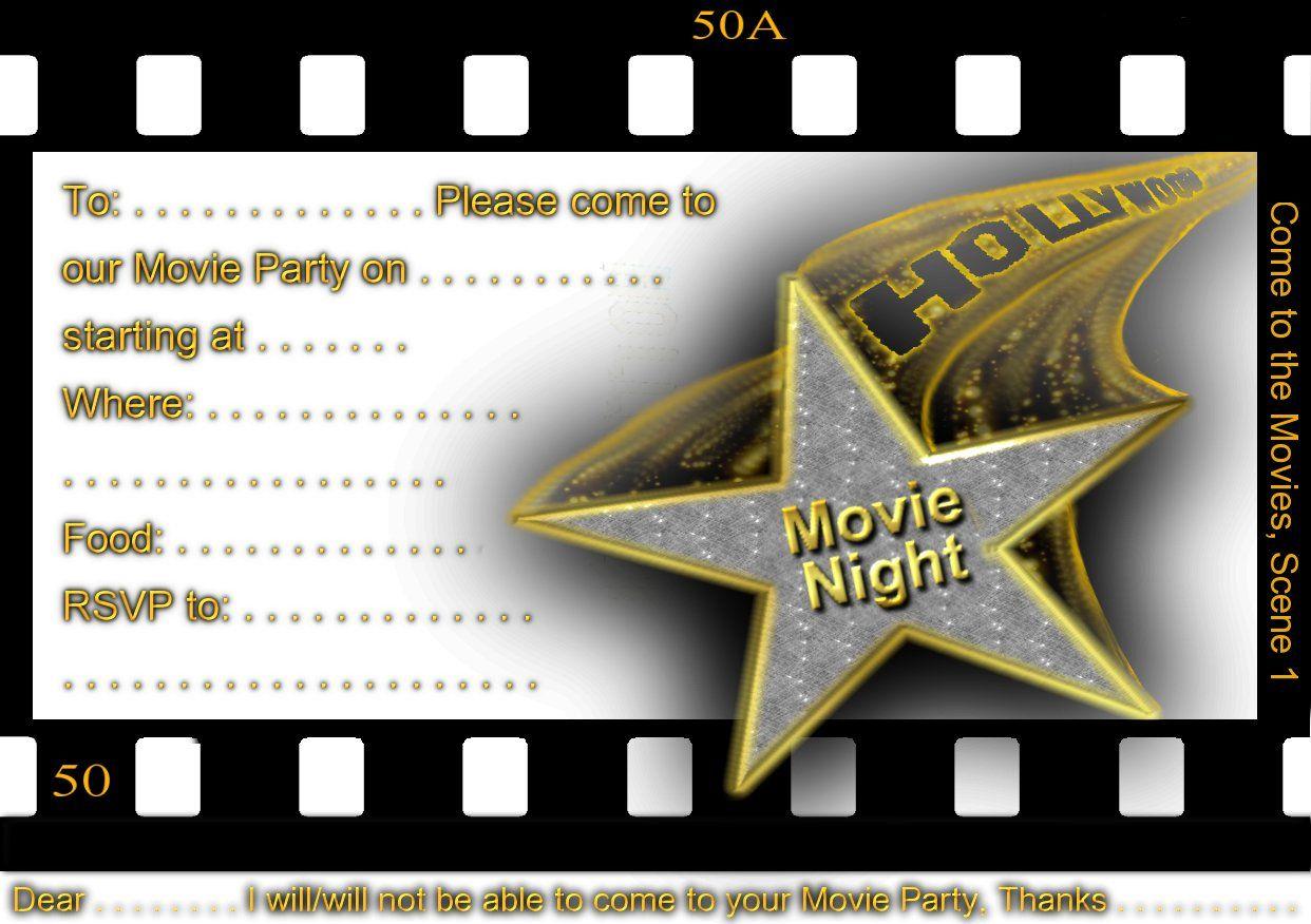 Free Printable Gratuation Movie Themed Invitations