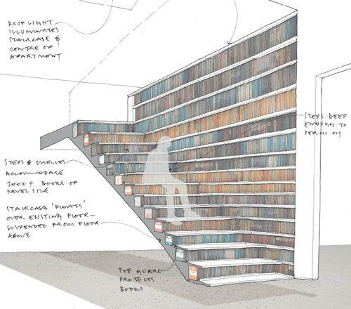 Staircase Bookcase   London Based Architecture And Design Studio Levitate