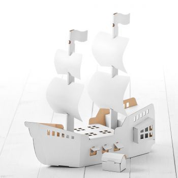 piratenschiff aus pappe zum basteln anmalen und pappe zum basteln und anmalen cart n. Black Bedroom Furniture Sets. Home Design Ideas