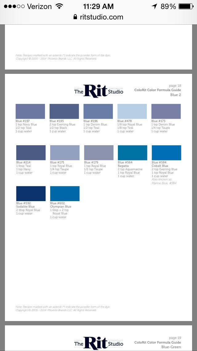Rit Color Chart Denmarpulsar
