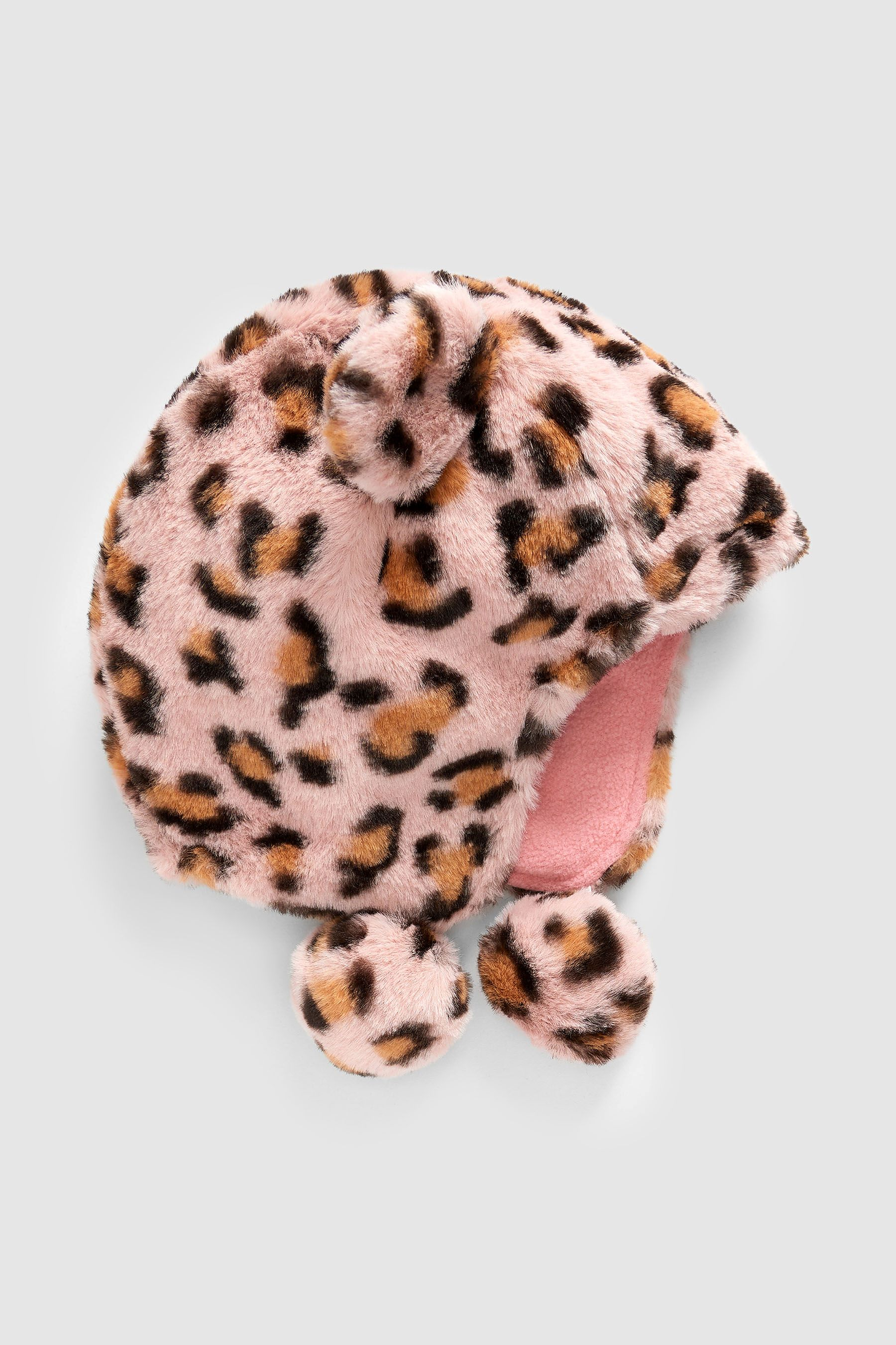 6a18561072fd Girls Next Leopard Faux Fur Trapper Hat (Younger) - Animal ...