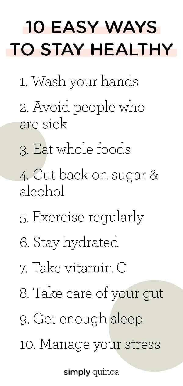 Here are 10 ways to stay healthy! These are simple daily habits that will lead to better health. Add these 10 things into your life and you'll feel great!As the world continues to spin with everything that's going on right now, I wanted to put some of my best tips down on...