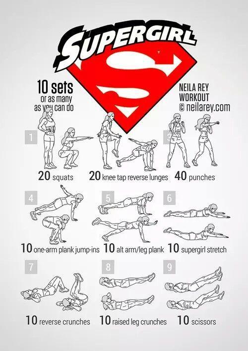 Supergirl Workout von NevriyeA auf We Heart It hochgeladen -  Supergirl-Training  -