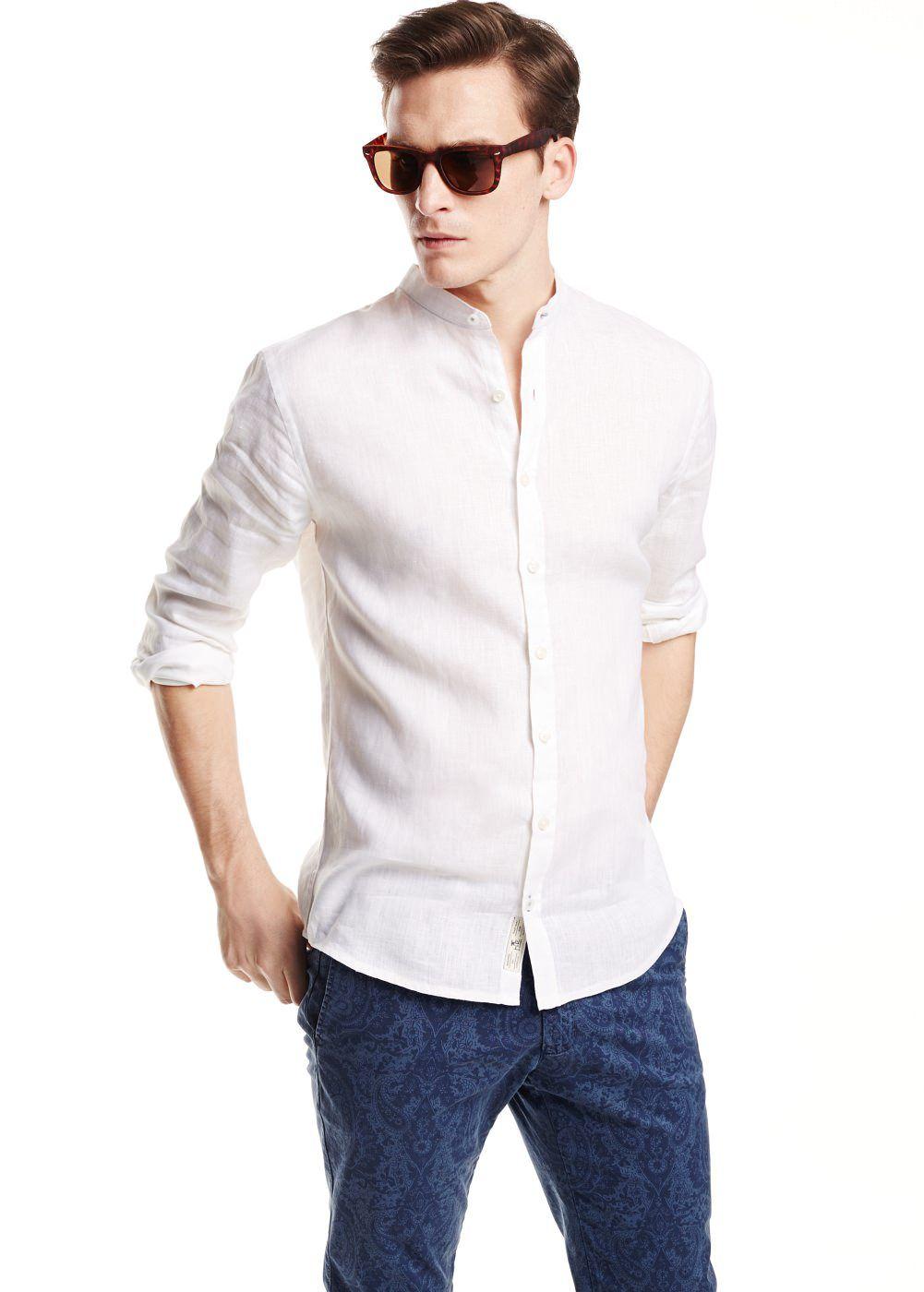 2684707cc7f5 Slim fit hemd mit mao-kragen - Herren