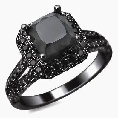 Awesome All Black Diamond Engagement Rings Awesome Black Diamond
