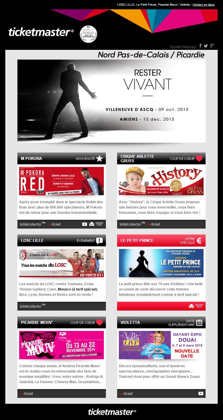 ticketmaster   Email & Newsletter Templates   Pinterest