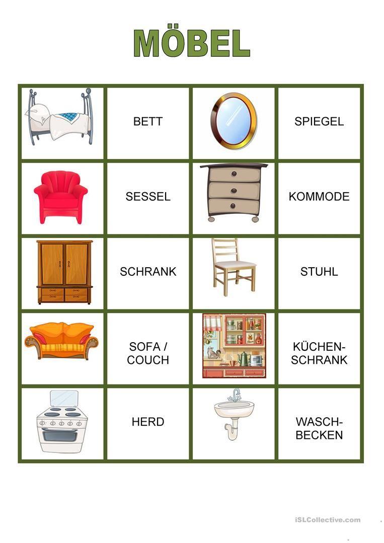 memory haus m bel tysk m bel wortschatz deutsch vokabeln und deutsch lernen. Black Bedroom Furniture Sets. Home Design Ideas