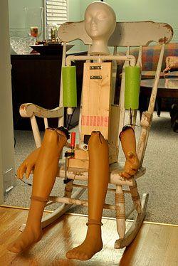 Groovy Wiper Motor Rocker Creepy Halloween Rocking Chair Creativecarmelina Interior Chair Design Creativecarmelinacom