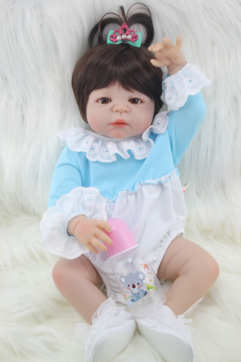 Shop now for Xmas. Full body silicone reborn baby girl doll toys ...