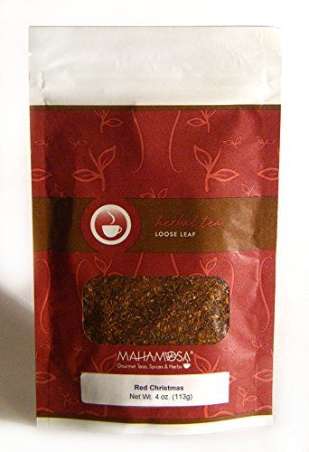 Mahamosa Rooibos Herbal Tea and Tea Filter Set: 4 oz Red Christmas Rooibos (Red Bush) Tea, 100 Loose Leaf Tea Filters (Bundle- 2 items)(Tea ingredients: Rooibos with rose, cinnamon, apple, almonds, orange and holiday flavoring) >>> Continue to the product at the image link.